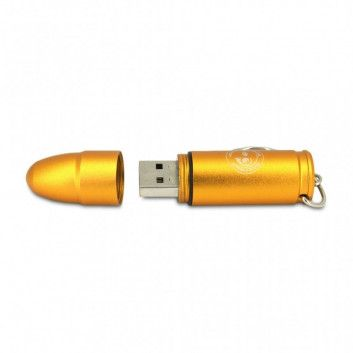 Cle USB Balle Pistolet Or  - 7