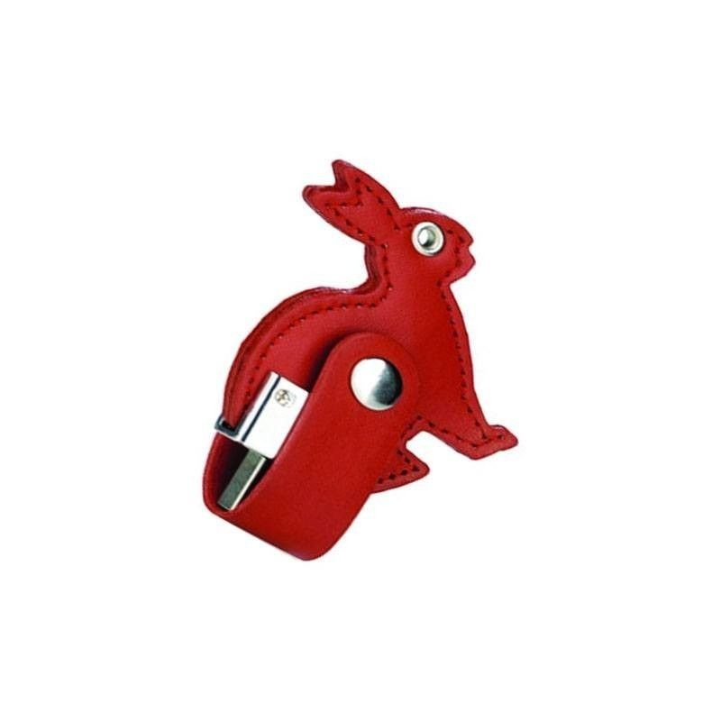 Cle USB Cuir Lapin  - 1