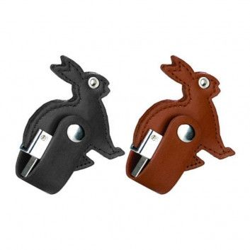 Cle USB Cuir Lapin  - 4