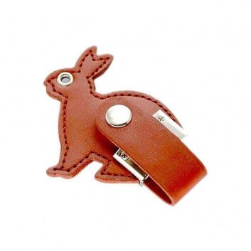 Cle USB Cuir Lapin  - 5