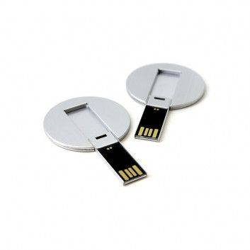 Clé USB Carte Affaire Ronde Métal  - 3