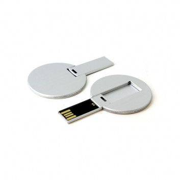 Clé USB Carte Affaire Ronde Métal  - 5